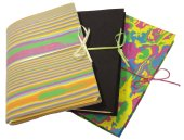 Hand made notebooks with neoprene covers