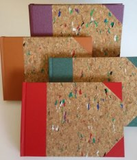 Cork covered writing books from By Hand Books
